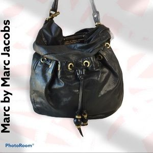 Marc Jacobs Black Leather Q Lil Riz Hobo